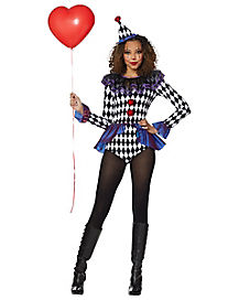 Adult Carnival Clown Bodysuit Costume