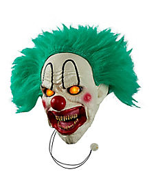 12 Inch Light-Up Evil Talking Clown Door Knocker Decoration