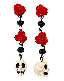Day of The Dead Skull Dangle Earrings