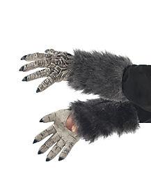 Kids Faux Fur Werewolf Gloves
