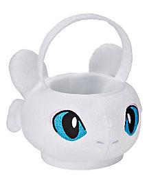 Kids Light Fury Plush Treat Bucket - How to Train Your Dragon