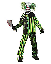 Kids Glow in the Dark Chaos Clown Costume