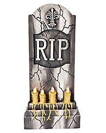 36 Inch Light-Up RIP Tombstone - Decorations