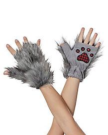 Kids Faux Fur Wolf Paws