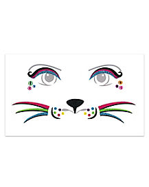 Kids Rainbow Cat Face Decal
