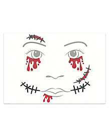 Kids Horror Zombie Face Decal