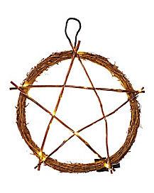 Light-Up Pentagram Wreath - Decorations
