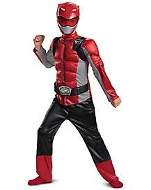 Kids Red Beast Morphers Ranger Costume - Power Rangers
