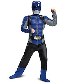 Kids Blue Beast Morphers Ranger Costume - Power Rangers