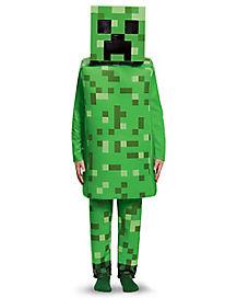 Kids Creeper Costume Deluxe - Minecraft