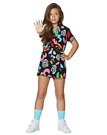 Kids Eleven Geometric Romper - Stranger Things