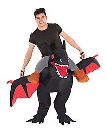 Adult Piggyback Dragon Inflatable Costume