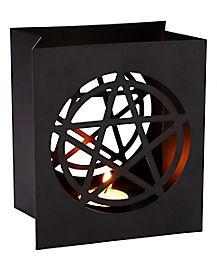Pentagram Tin Candle Holder