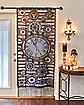 Steampunk Curtain Window Panel