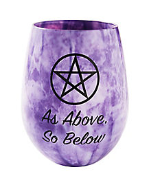 Pentagram Stemless Wine Glass