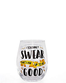 Solemnly Swear Stemless Wine Glass 20 oz. - Harry Potter