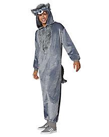 Adult Faux Fur Wolf Union Suit