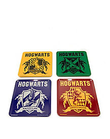 House Crest Tin Coaster Set - Harry Potter