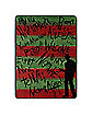 Freddy Krueger Fleece Blanket – Nightmare on Elm Street