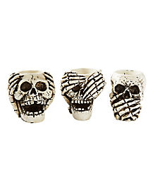 Skull Candle Holders - Decorations