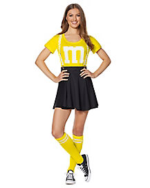 Adult Yellow M&M's Costume Kit with Suspenders