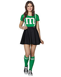 Adult Green M&M's Costume Kit with Suspenders