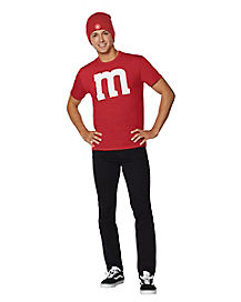 Adult Red M&M's Costume Kit