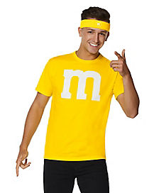 Adult Yellow M&M's Costume Kit