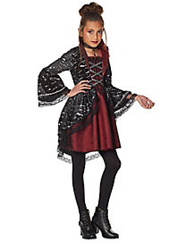 Halloween Vampire Costume Kids.Girls Vampire And Werewolf Halloween Costumes Spirithalloween Com