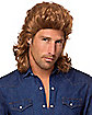 '80s Brown Mid-Length Curls Wig