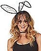 Black Bunny Ears with Veil