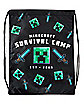 Minecraft Survival Camp Cinch Bag