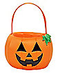 Light-Up Pumpkin Plush Treat Bucket
