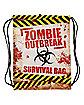 Zombie Outbreak Survival Cinch Bag