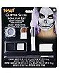 Silver Glitter Skull Makeup Kit