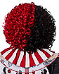 Red and Black Curly Wig