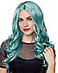 Pastel Blue Curly Wig