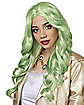 Green Pastel Curly Wig