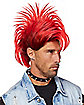 Red and Black Punk Rock Wig