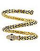 Goldtone Roman Snake Cuff
