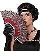 '20s Burgundy Printed Hand Fan