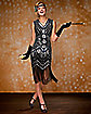 Adult Black Beaded Flapper Dress
