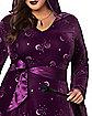 Plus Size Adult Velvet Celestial Robe