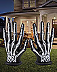 6 Ft LED Skeleton Hands Inflatable 2 Pack - Decorations
