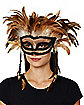 Witch Doctor Feather Eye Mask