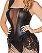 Adult Leather Lace Bodysuit