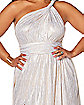 Adult White Endless Plus Size Dress