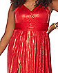 Adult Red Endless Plus Size Dress