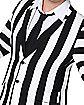 Adult Beetlejuice Striped Plus Size Suit