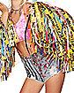 Harley Quinn Caution Moto Jacket - Birds of Prey